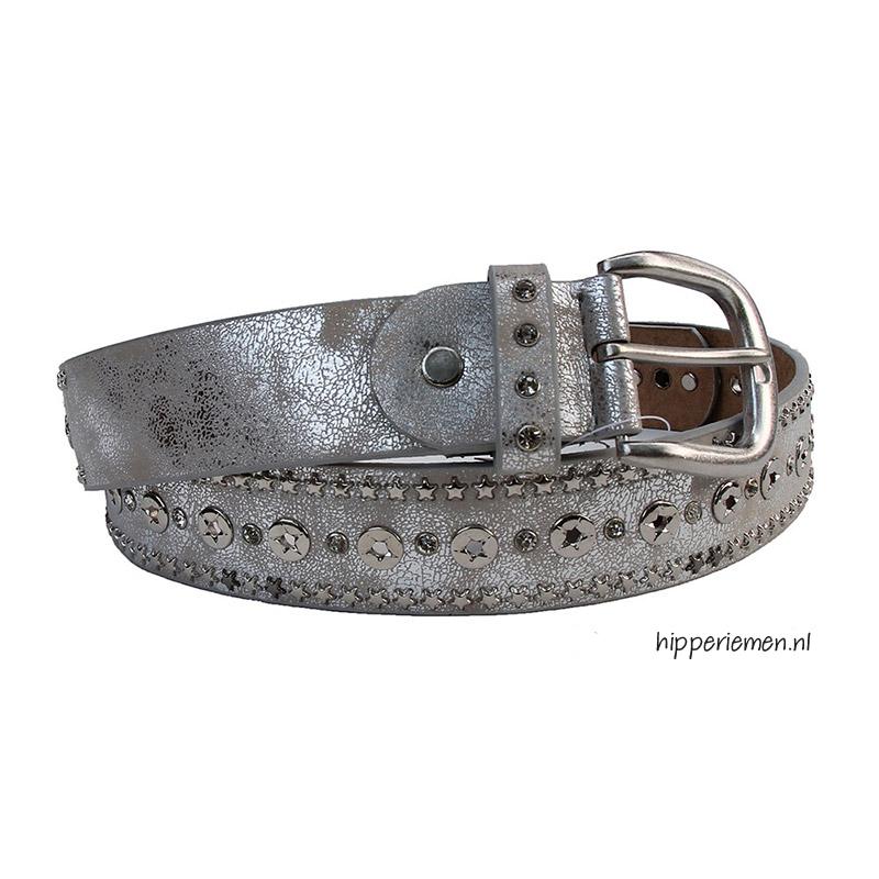 riem-met-studs-zilver
